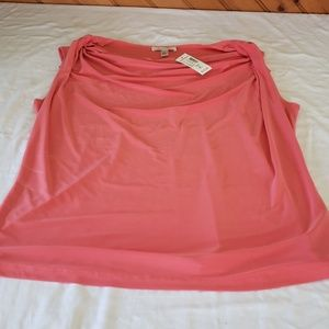 NWT Dress barn coral sleevless swoop neck top XL